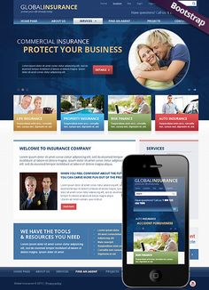 96 best website templates images on pinterest design websites insurance html website template cheaphphosting Choice Image