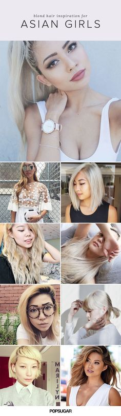 In the past year, we've been noticing a trend among our favorite Asian celebrities. They're all going blond! From ombré highlights to full-on platinum, these jet-haired beauties are devoted to the bleach life. If you're thinking about taking the plunge from dark brunette to blond, realize that it's a process. Keep reading to get more hair inspiration from our favorite blond Asians on Instagram.