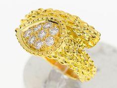 BOUCHERON Serpent Boheme Ring M Diamond 750 K18 YG Yellow Gold 28150216 #BOUCHERON #SerpentBohemeRingMedium