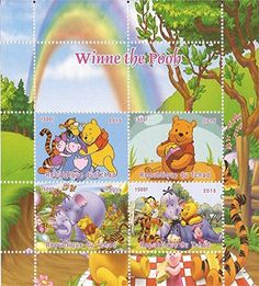 Chad  2015 Disney WinniethePooh  4 Stamp Sheet  3B427 * See this great product.