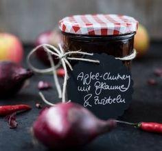 Chutney selbermachen: Apfel-Chutney mit Pflaumen und Zwiebeln   schmecktwohl