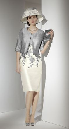 Summer Mother Of The Bride Outfit In Grey And Cream Outfits