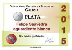 Medalla de Plata reconociendo la calidad de nuestro Aguardiente de Orujo de Galicia- Felipe Saavedra.