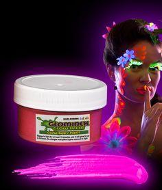 Glominex Glow Body Paint 2oz Jar - Green - Coolglow.com