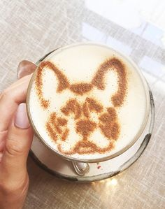 French Bulldog Latte Art