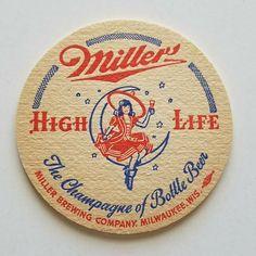 Miller High Life, Beer Coasters, Beer Brewing, Milwaukee, Beer Bottle, Wisconsin, Ebay, Beer Bottles