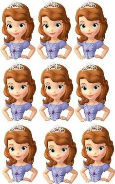 etiquetas princesa sofia … (com imagens) Princess Sofia Birthday, Sofia The First Birthday Party, Princess Sofia Cupcakes, Tangled Birthday, Tangled Party, Tinkerbell Party, Happy Birthday, Sofia The First Cake, Princess Sofia The First