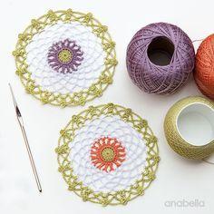 15 minutes made crochet doilies - Free Pattern, Anabelia Craft Desig <3
