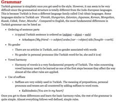 Turkish Grammar Introduction