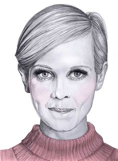 Mia Valgren - Twiggy (on Owl Illustration Agency) Owl Illustration, Creative Illustration, Portrait Illustration, Drawing Artist, Painting & Drawing, Beautiful Artwork, Cool Art, Awesome Art, Watercolor Art