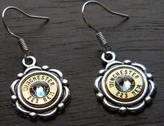 Ornate Bullet Earrings