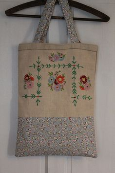 Repurposed Embroidery Tote II