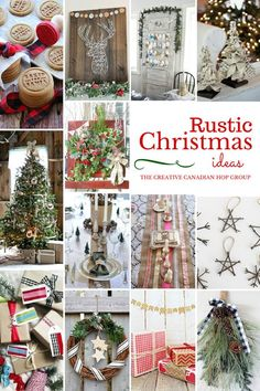 Rustic Christmas Ideas - A collection of FABULOUS Rustic Christmas decor ideas! You MUST check it out! thediydreamer.com