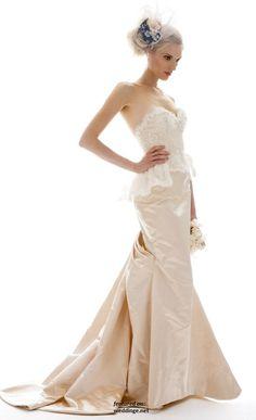 """gorgeous """"Brigitte"""" Fall 2012 Wedding Dress by Elizabeth Fillmore."""