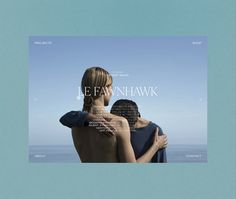 Le Fawnhawk - Los Angeles, California on Behance Modern Web Design, Graphic Design, Type Design, Ui Design, Minimal Website Design, Interactive Media, Presentation Layout, Website Layout, Jobs Apps