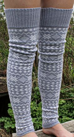 Extra long leg warmers by AnRita on Etsy, $33.00