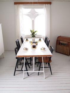 Teak, Dining Table, Furniture, Cottages, Home Decor, Summer, Cabins, Decoration Home, Summer Time