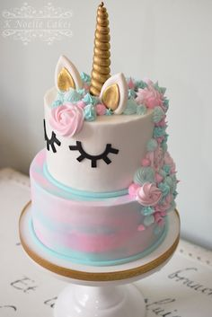 Unicorn theme cake by K Noelle Cakes