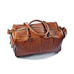 Palermo Duffle Bag/ Sportsbag Cognac | Roque Bags