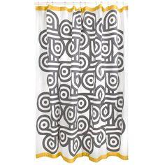 Modern Bath Linens | Charlie Shower Curtain | Jonathan Adler