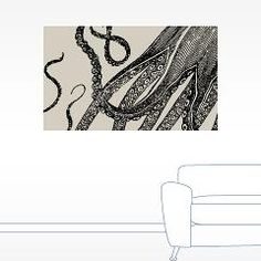 Vintage Octopus Tentacles Wall Decal