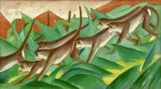Franz Marc - Graphic monkey frieze