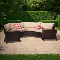 Threshold™ Harrison 6-Piece Wicker Sectional Patio Seating Set
