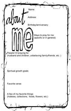 secret sister questionnaire | White Hall Church of Christ | Secret ...