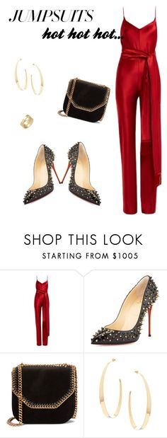 """""""Untitled #25"""" by giotakotsalou ❤ liked on Polyvore featuring Galvan, Christian Louboutin, STELLA McCARTNEY, Lana, Cartier and jumpsuits"""