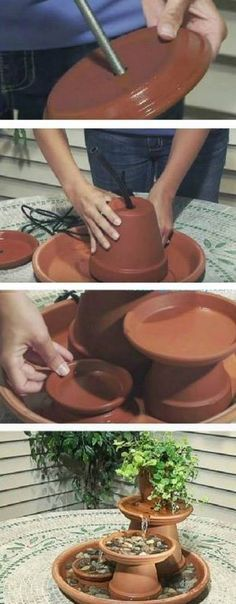 Clay Pot Fountain Instructions With Video | The WHOot