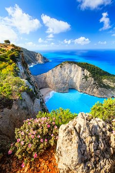Zakynthos Island is a Greek island in the Ionian Sea and a well-known summer resort. The harbor city of Zakynthos is the capital and major hub, centered around waterfront Solomos Square. Dream Vacations, Vacation Spots, Romantic Vacations, Vacation Travel, Vacation Places, Hawaii Travel, Romantic Travel, Places To Travel, Places To See