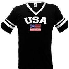 United States Of America Flag International Soccer Ringer T-shirt, American Soccer Mens Ringer T-shirt (Apparel)  http://macaronflavors.com/amazonimage.php?p=B003R47R5W  B003R47R5W