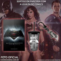 Sorteio de kits da Loja DC Comics - Poster Batman vs Superman + Copo oficial do filme + Chaveiro oficial