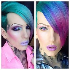 yes love Jefree star......i want my hair that turquoise and blue fade ughhhh