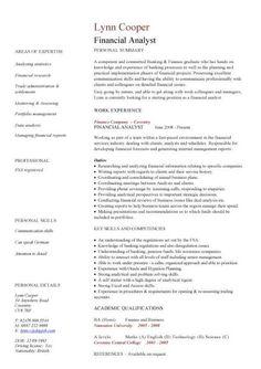 financial cv template business administration cv templates accountant financial jobs - Financial Resume
