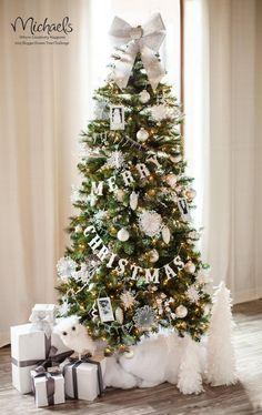 Let It Snow Christmas Tree by @Matt Nickles Nickles Nickles Nickles Valk Chuah TomKat Studio #JustAddMichaels