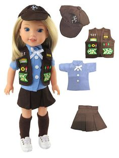 New Brittany/'s Fall Fox Outfit 14 Inch Doll Clothes Compatible with Wellie Wi..