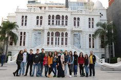 Visit to Sursock Museum: The students had the chance to tour the museum and its library and examine the various galleries including the Assadour's Landscape in Motion, Genadry's The Fall, and the permanent museum's galleries which include abstract and portrait paintings). #LAUOCV