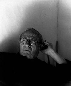 1968. Joan Miró in his atelier of Calamayor, by Daniel Frasnay