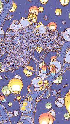 Molang is super cute Cute Kawaii Drawings, Cute Animal Drawings, Kawaii Art, Kawaii Doodles, Japon Illustration, Cute Illustration, Cute Wallpaper Backgrounds, Wallpaper Iphone Cute, Wallpaper Fofos