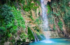 King David's water fall at Ein Gedi nature reserve in southern Israel.
