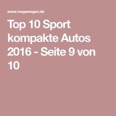 Top 10 Sport kompakte Autos 2016 - Seite 9 von 10
