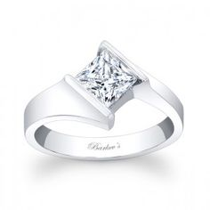 Princess Cut Solitaire Ring - 7824LW