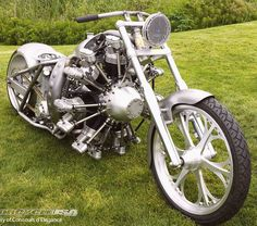 """Click through the large version for a full-screen view (on a black background in Firefox), set your computer for full-screen. ~ Built by Jesse James with a 110hp 7 cylinder radial engine from Rotec Engineering ~ Photo by Neil McFarland of Santa Cruz, Ca. ~ Miks' Pics """"Bikes, Trikes and Unicycles ll"""" board @ http://www.pinterest.com/msmgish/bikes-trikes-and-unicycles-ll/"""