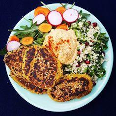 HandsOffMyFood: VEGAN VIBES: Lebanese food on a plate: keep calm a...