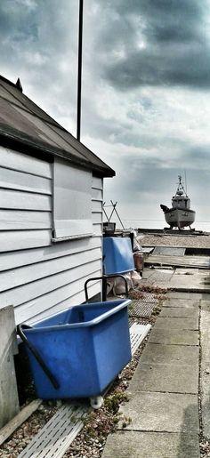 Beach & fishing boat. Walmer, Deal