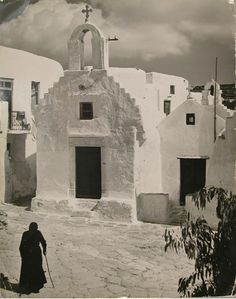 "David ""Chim"" Seymour      Mykonos, Greece       1951-fab bl.& white almost ominous. maggie"