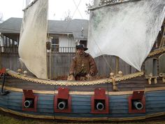 pirate ship by Halloween Forum member