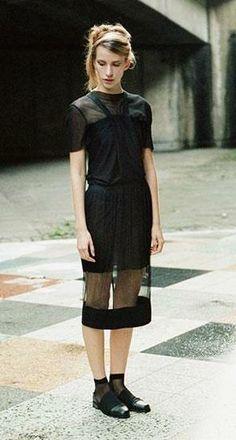Phoebe English's tulle skirts hit Dover Street Market NY.