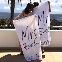 I've just found Personalised Mr And Mrs Beach Towel. A fabulous personalised mr and mrs beach towel. This gorgeous wedding gift is a honeymoon essential which can be treasured for couple's holidays for years. Honeymoon Style, Honeymoon Gifts, Honeymoon Outfits, Hawaii Honeymoon, Honeymoon Ideas, Honeymoon Packing, Honeymoon Clothes, Honeymoon Inspiration, Beach Wedding Inspiration